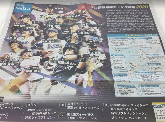 沖縄でのプロ野球春季キャンプ2020