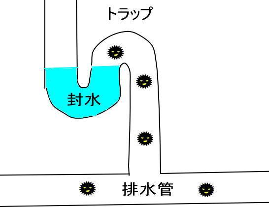 排水管のトラップの構造
